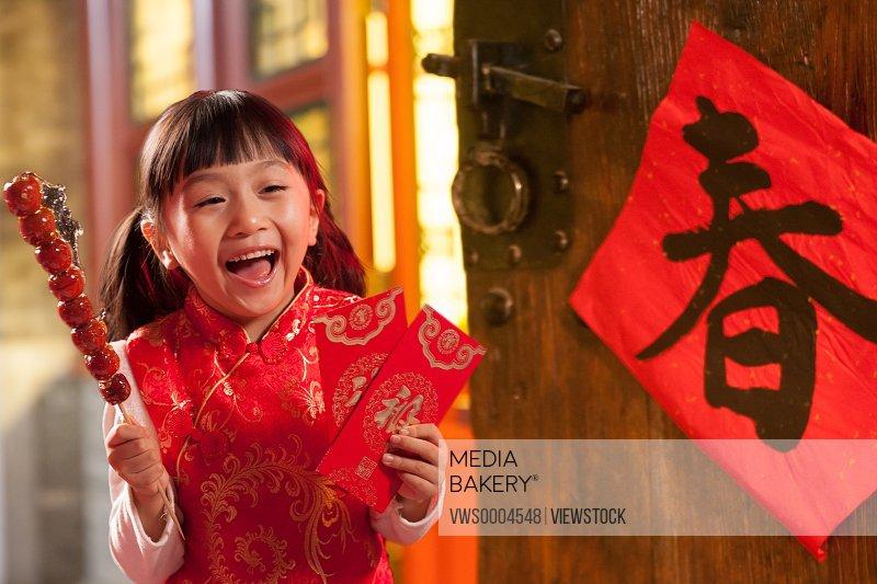 A girl in Spring Festival
