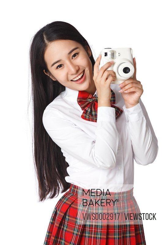Students taking photos