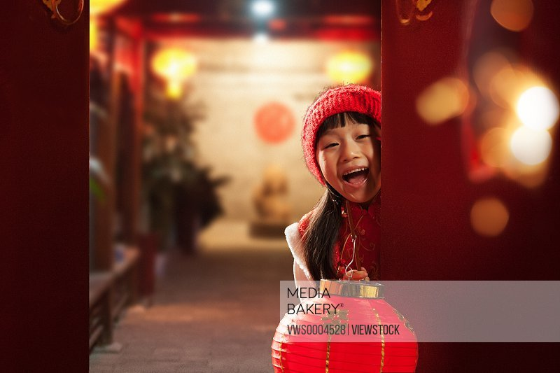 Oriental girl in New Year