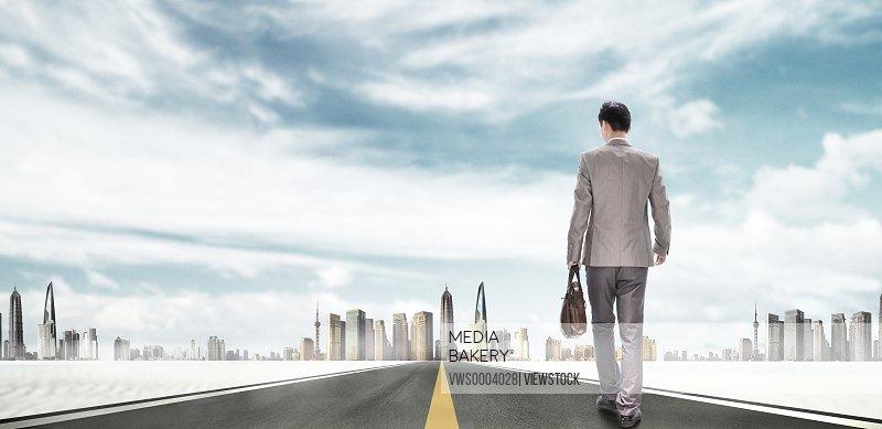 Business men on road
