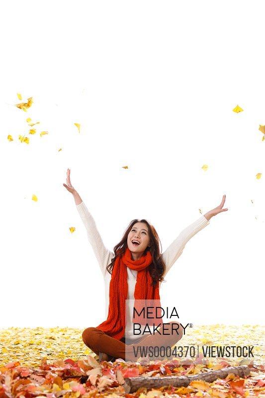 Happy Oriental woman