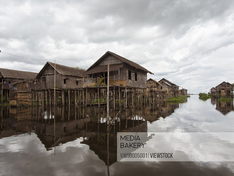 Burma Inle Lake Building