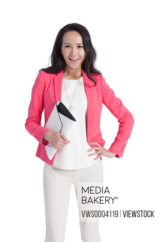 Happy young female white-collar workers