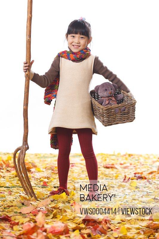 Happy oriental child