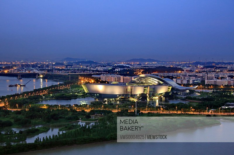 City building scenery in Guangzhou