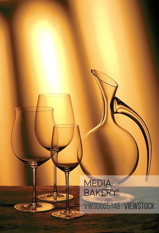 Still life of wine glasses