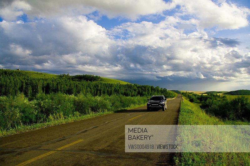 Road in Hulunbuir Grassland