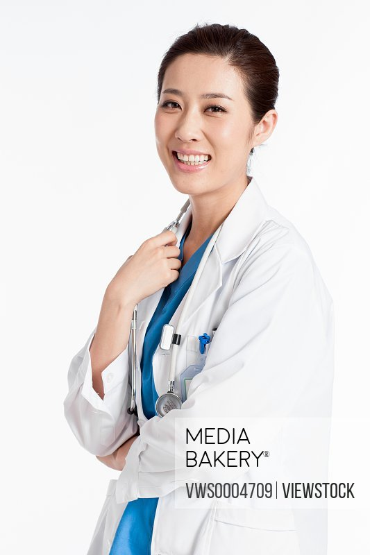A portrait of doctors on white background