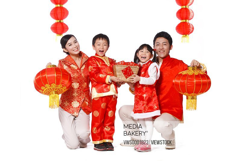 Family on Chinese New Year