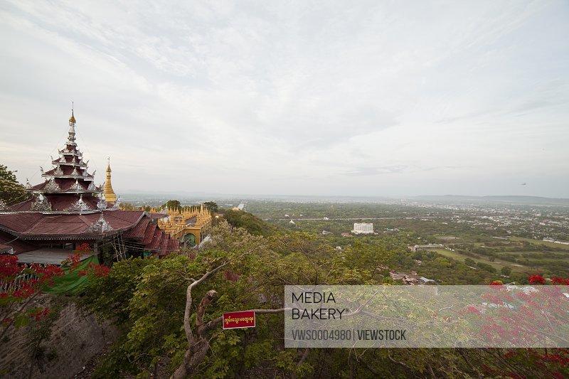 Burma Mandalay buildings