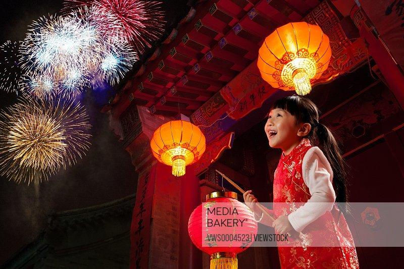 Oriental girl in New Year
