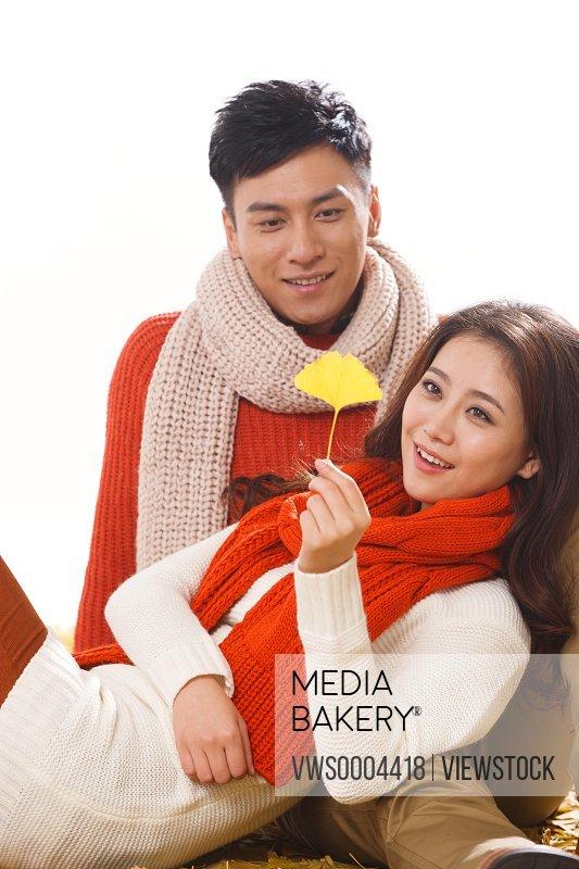Oriental intimate couple