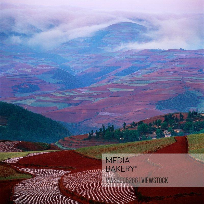 Rural scene in Yunnan Province China