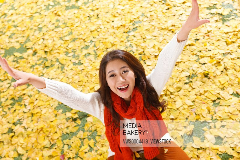 Happy Oriental woman