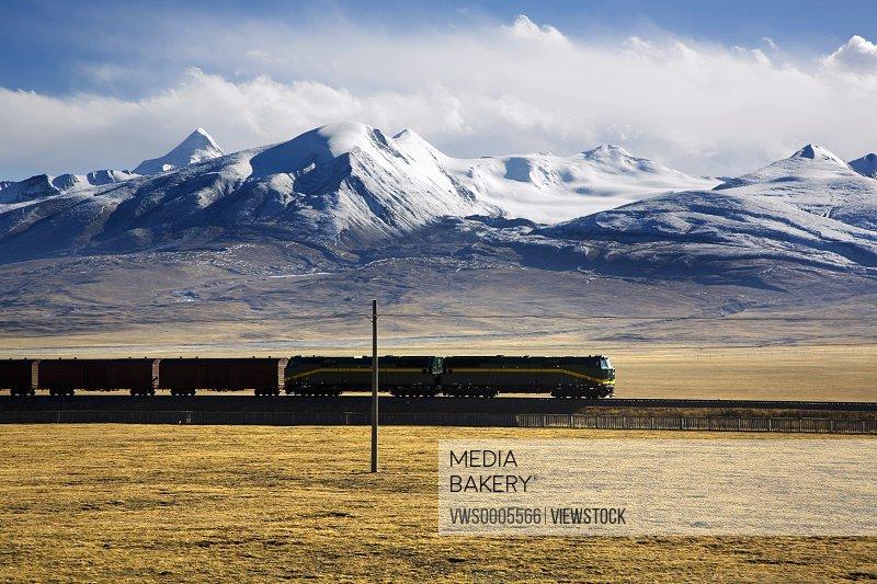 Trains on road