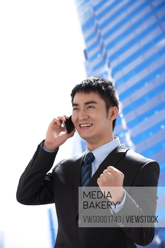 Young businessman at office