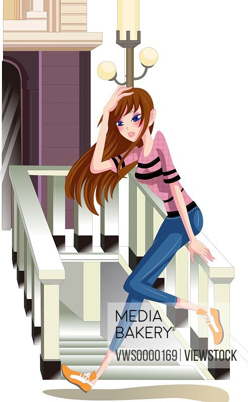 Illustration of young woman