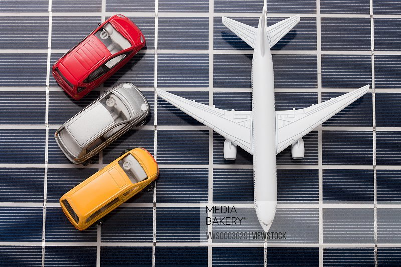 Model cars and plane