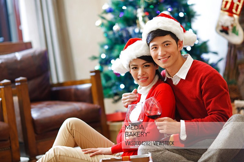 Young couple in Christmas