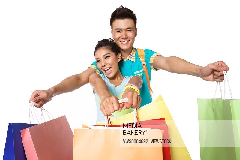 Chinese couple in shopping