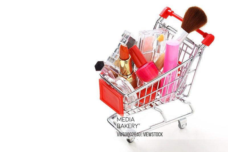 Cosmetic in the shop cart