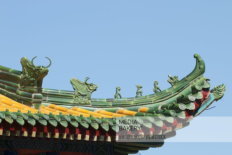 The eaves of Guocheng temple