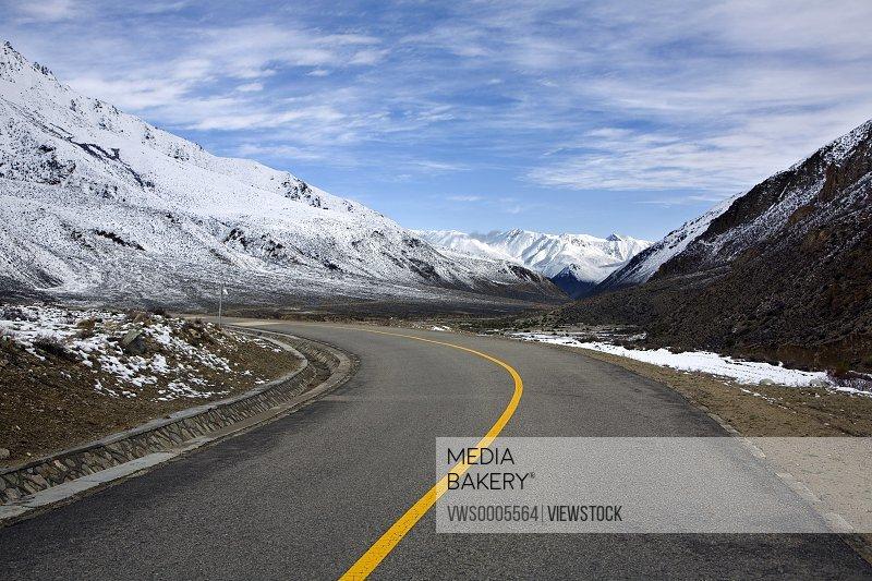 Roads among mountains
