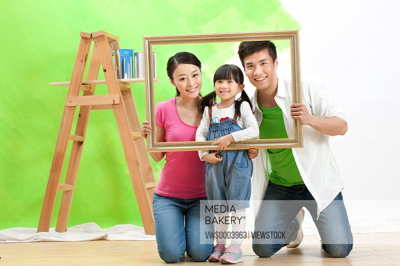 Families decorate their new home