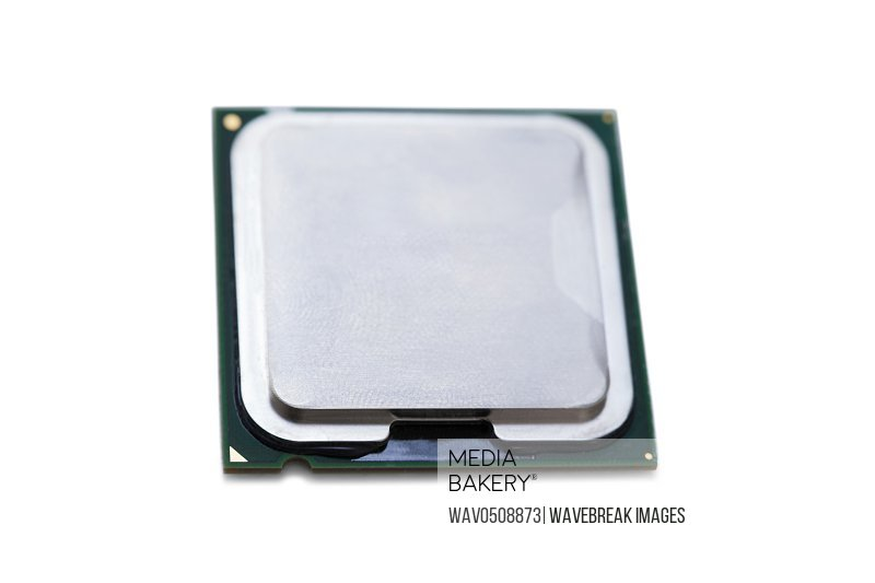 Processor against white background