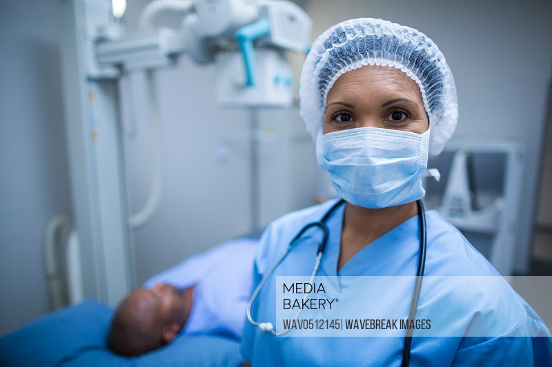 Portrait of surgeon in operation room at hospital