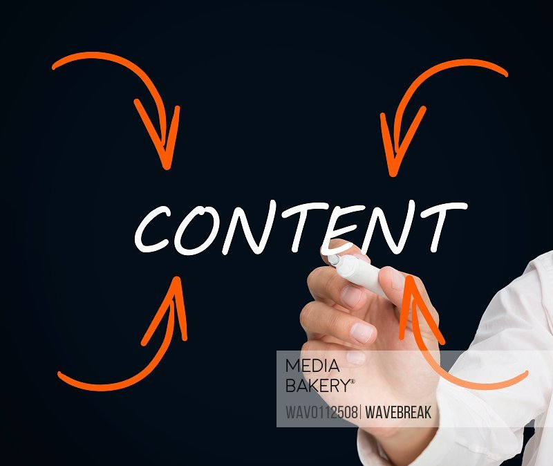 Buisnessman writing content/n