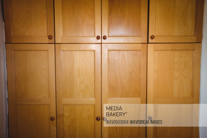 Wooden cupboard cabins at home