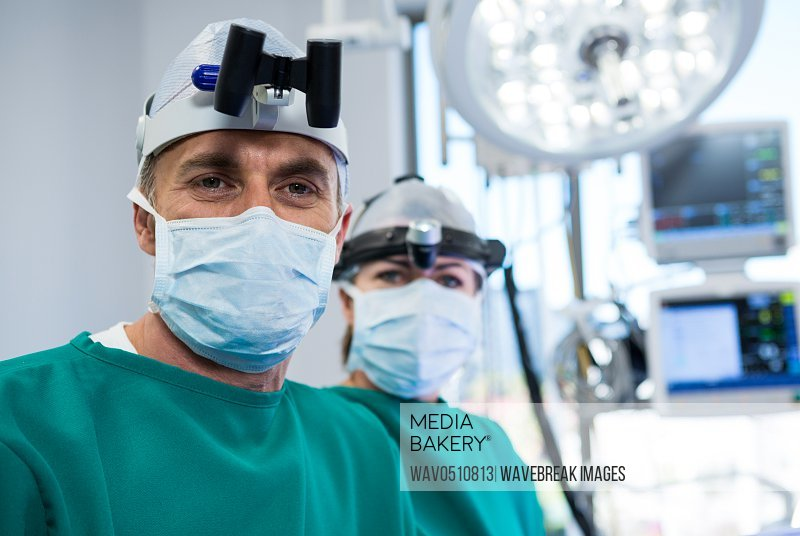 Portrait of surgeons in operation theater