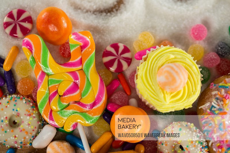 Close-up of various confectionery