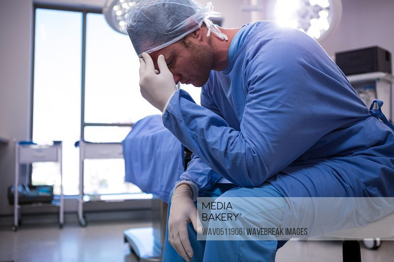 Male surgeon in operation room at the hospital