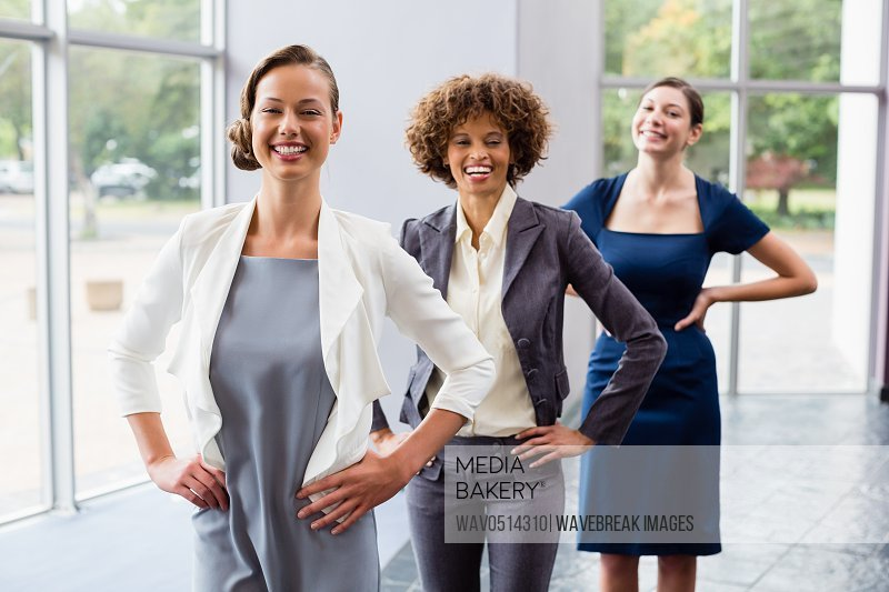 Portrait of confident and beautiful business executives
