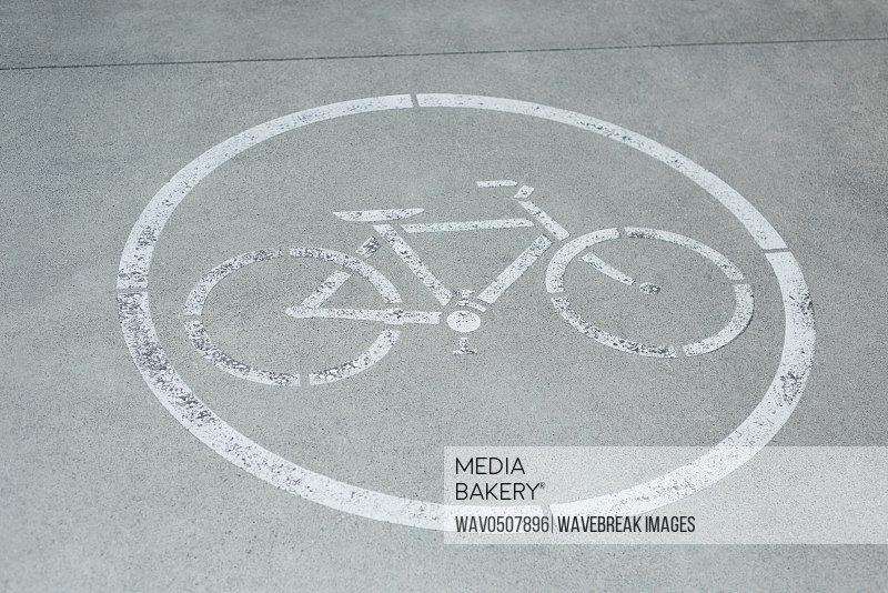 Cycle lane on road surface backgrounds