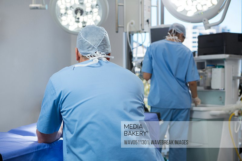 Surgeons working in operation theater