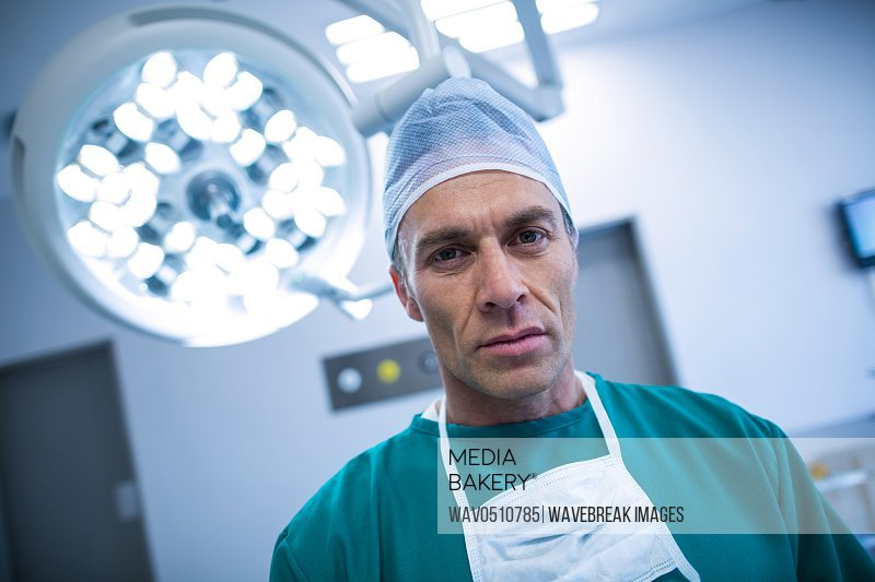 Portrait of surgeon in operation room at the hospital
