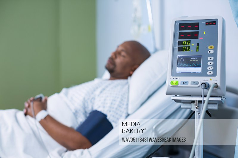 Patient monitoring machine in ward of hospital