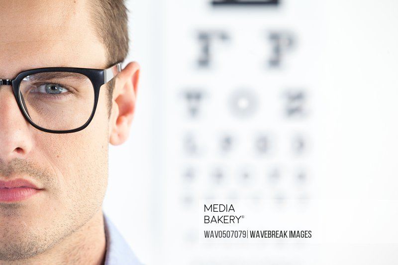 Portrait of handsome man wearing spectacles