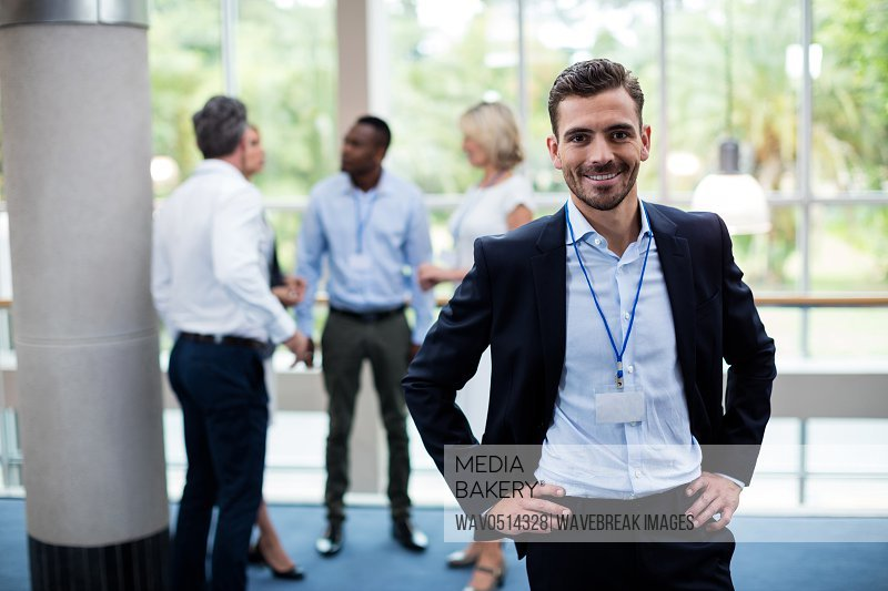 Male business executive at conference center