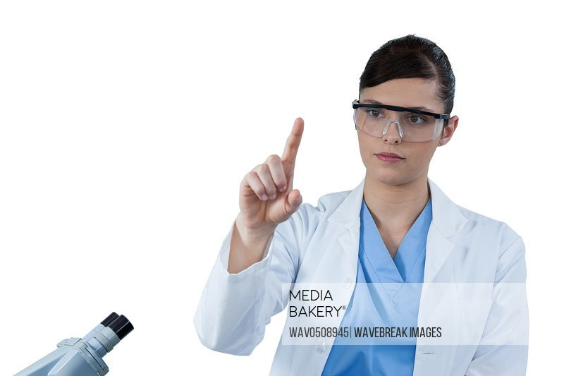 Female scientist conducting an experiment