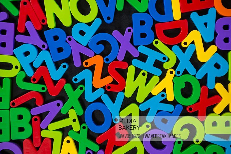 Multicolored jumbled alphabets