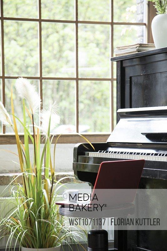Piano in comfortable loft apartment