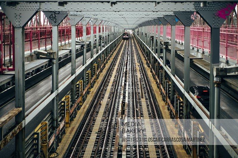 USA, New York City, Rails