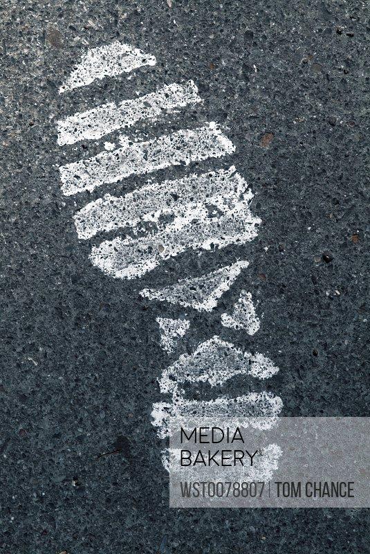 Shoe imprint, close-up