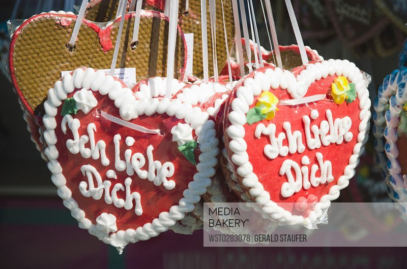 Photo By Westend 61 Gingerbread Hearts With German Inscription