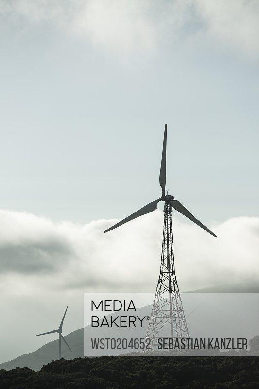 Spain, Andalusia, Tarifa, Wind farm