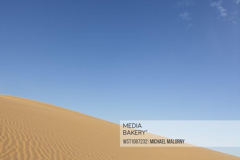 Vietnam, Mui Ne, Sand dune and blue sky